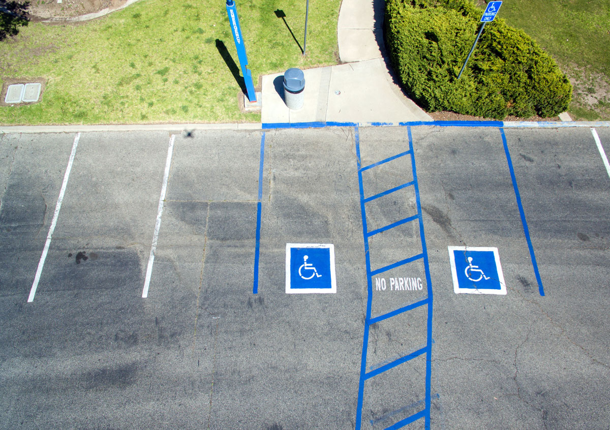 accessibility - accessible parking lot